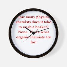 chemistry joke Wall Clock