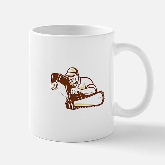 Lumberjack Tree Surgeon Arborist Chainsaw Mug