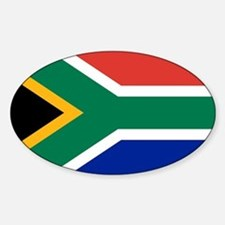 Flag South Africa Sticker (Oval)