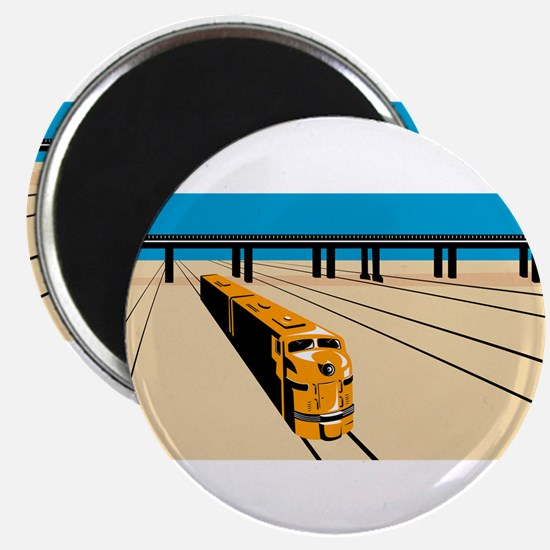 Diesel Train High Angle Retro Magnet