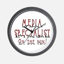 Media Specialist Wall Clock
