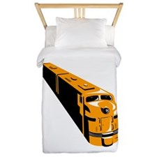 Diesel Train High Angle Retro Twin Duvet
