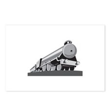 Steam Train Locomotive Retro Postcards (Package of