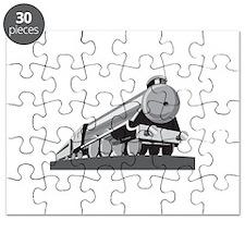 Steam Train Locomotive Retro Puzzle