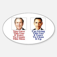 Give Obama 8 Years Sticker (Oval 10 pk)