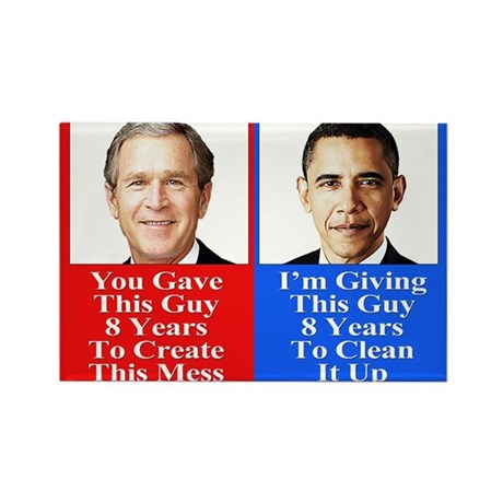Give Obama 8 Years Rectangle Magnet (10 pack)