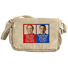 Give Obama 8 Years Messenger Bag