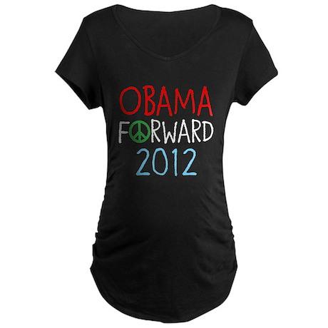 OBAMA FORWARD PEACE Maternity Dark T-Shirt