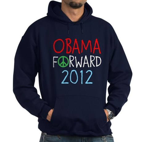OBAMA FORWARD PEACE Hoodie (dark)