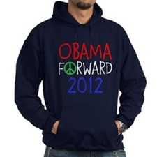 OBAMA 2012 PEACE FORWARD Hoodie