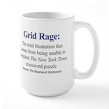 Left-handed Grid Rage Mug