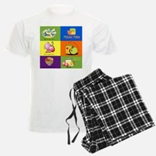 Hebrew English New Years Greetings Pajamas
