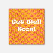 Get Well Soon Recuperate Floral Designer Square St