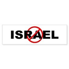 Anti / No Israel Bumper Sticker