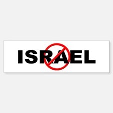 Anti / No Israel Sticker (Bumper)