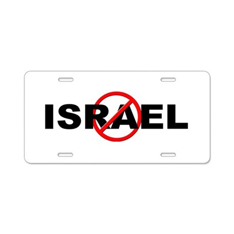 Anti / No Israel Aluminum License Plate