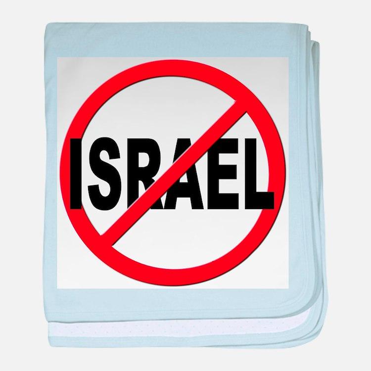 Anti / No Israel baby blanket