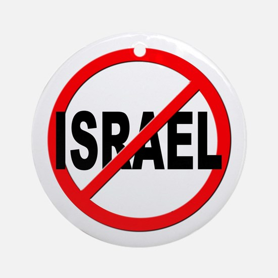 Anti / No Israel Ornament (Round)