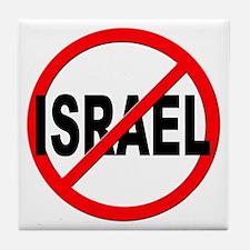 Anti / No Israel Tile Coaster