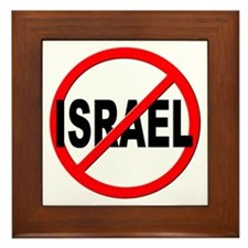 Anti / No Israel Framed Tile
