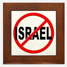 Anti / No Israel Framed Tile