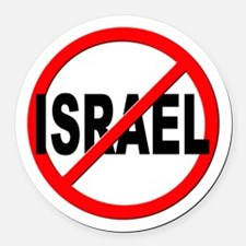 Anti / No Israel Round Car Magnet
