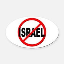 Anti / No Israel Oval Car Magnet