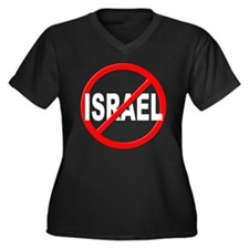 Anti / No Israel Women's Plus Size V-Neck Dark T-S
