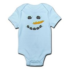 Snowman Face Infant Bodysuit