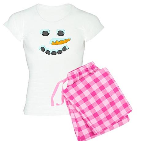 Snowman Face Women's Light Pajamas