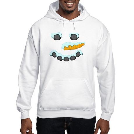Snowman Face Hooded Sweatshirt
