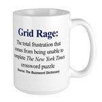 Left-handed Grid Rage Large Mug