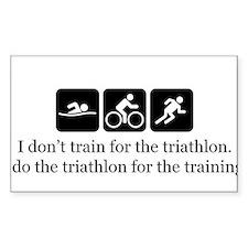 I don't train for triathlon Decal