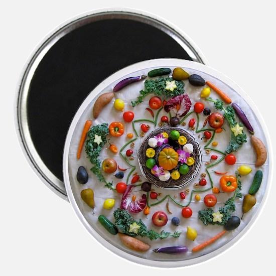 Fruit & Veggie Mandala Magnet