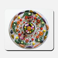 Fruit & Veggie Mandala Mousepad