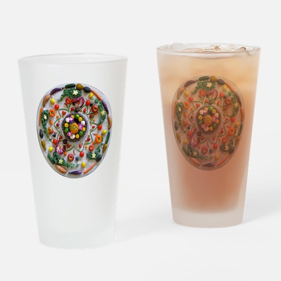 Fruit & Veggie Mandala Drinking Glass