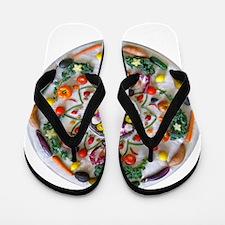 Fruit & Veggie Mandala Flip Flops