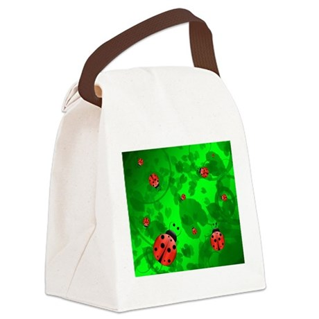 Ladybugs - Canvas Lunch Bag