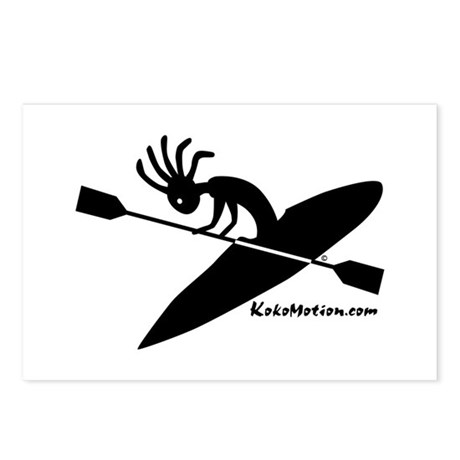 Kokopelli Kayaker Postcards (Package of 8)