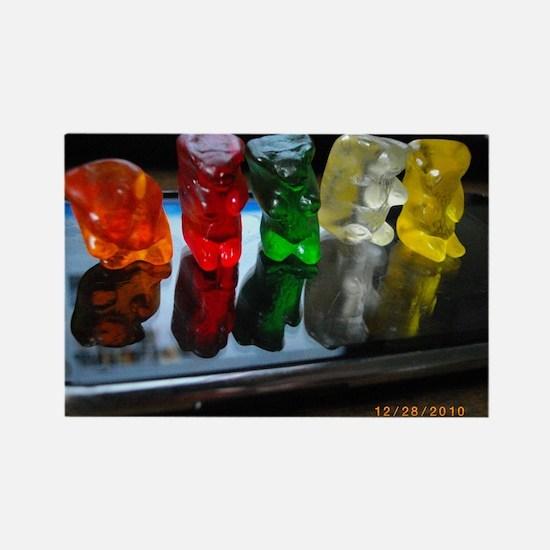 Gummy Bear Friends Rectangle Magnet
