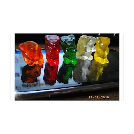 Gummy Bear Friends 35x21 Wall Decal