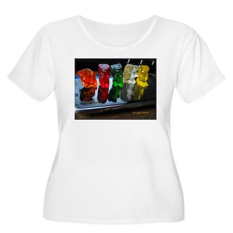 Gummy Bear Friends Women's Plus Size Scoop Neck T-