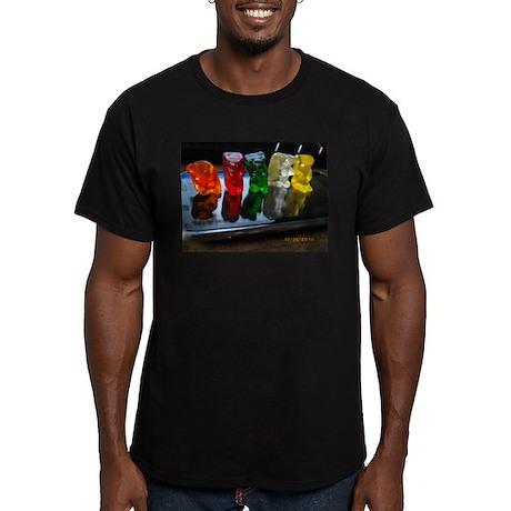 Gummy Bear Friends Men's Fitted T-Shirt (dark)