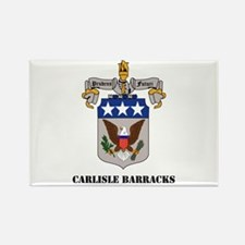 Carlisle Barracks with Text Rectangle Magnet