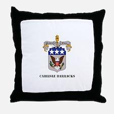 Carlisle Barracks with Text Throw Pillow