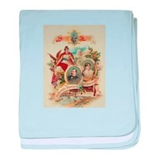 1888 National Democratic Convention baby blanket