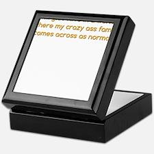 My Crazy Ass Family Keepsake Box