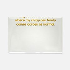 My Crazy Ass Family Rectangle Magnet