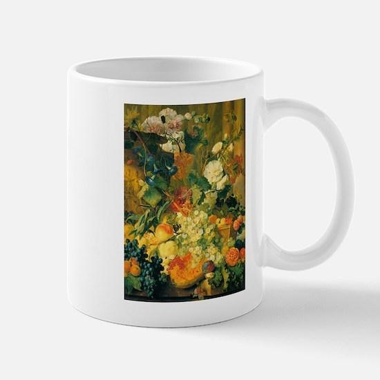 Grapes and Hollyhocks Mug