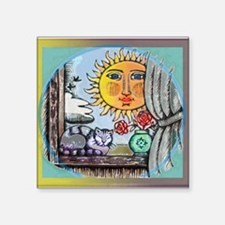 "sunnywindow.jpg Square Sticker 3"" x 3"""